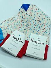 Happy Socks Men's Socks (Lot of 2) Confetti size 10 - 13