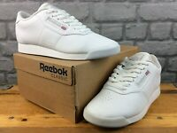 REEBOK LADIES UK 6 EU 39 PRINCESS CLASSIC 100% LEATHER TRAINERS WHITE M