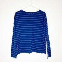 Saint James J Crew Women's Slouchy Striped T-Shirt Breton Top Tee Blouse Blue 38
