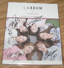 Laboum LA BOUM Fresh Adventure 4th Single K-POP REAL SIGNED AUTOGRAPHED PROMO CD