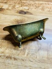 Vintage Enesco Footed Brass Bath Tub Made In India. Soap Holder. Trinket