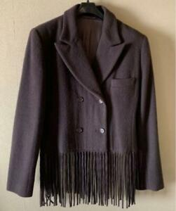 Helmut Lang Authentic Fringe Wool Jacket 9AR Used from Japan