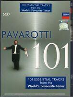 LUCIANO PAVAROTTI 101 Essential Tracks MALAYSIA DIGIPAK 6CD BOXSET NEW SEALED