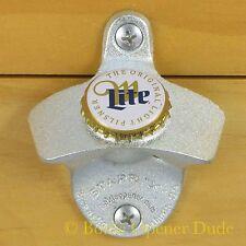 MILLER LITE Beer BOTTLE CAP Starr X Wall Mount Bottle Opener NEW!!!