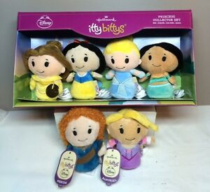 Hallmarks ITTY BITTY'S Disney PRINCESS COLLECTOR BOXED SET New 2014 (PLUS 2)