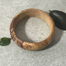 Bracelet from Olive Wood / Wooden Bangle Jewellery, handcrafted natural artisan