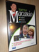 DVD TUTTO MACARIO IL TEATRO LE EDUCANDE DI SAN BABILA I DUE SORDI