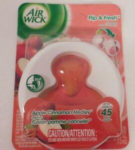 Airwick Flip & Fresh Apple Cinnamon Medley New Old Stock Sealed Air Freshener