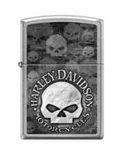 Zippo Lighter Harley-Davidson Skull Street Chrome 29503