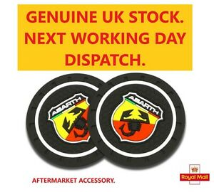 Silica gel Car Cup Mat Coasters x2.   Fits ABARTH  72mm please check size.