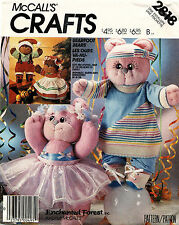 1980's VTG McCall's Bearfoot Bear and Clothes Package Pattern 2818 Size 18