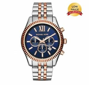 Michael Kors MK8412 Gent's Lexington Two-Tone Chronograph Stainless Steel Watch
