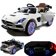 SLS AMG Cabriolet Elektro Kinderauto Kinderfahrzeug Kinder Elektroauto Weiss