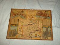 antique framed map of middlesex, london westminster by john spede 45 cm x 34 cm