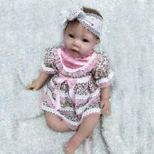 "Realistic 22"" Reborn Baby Dolls Newborn baby Girl Handmade Silicone Vinyl Toys"