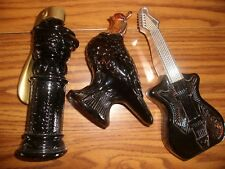 Vintage Avon 3 Bottles/Decanters Collection Guitar Quail Cistern Pump Empty