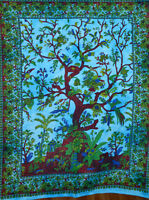Indian Wall Hanging Cotton Tree Of Life Tapestry Poster Table Cloth Home Decor@