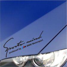 """SPORT MIND M Power BMW M3 M5 M6 E36 E39 E46 E61 E63 E90 DECAL STICKER BLACK 10"""""""