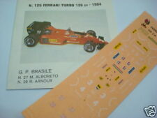 FERRARI 126 C4 TURBO 1984 GP BRASILE 1/43 DECALS