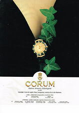 PUBLICITE ADVERTISING  1994   CORUM   maitres horlogers montre
