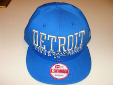 New Era Hat Cap NFL Football Detroit Lions Lateral Snapback Hat Adjustable OSFM