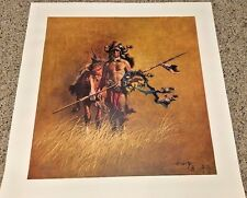 "FRANK MCCARTHY ""THE WARRIOR"" 1976 488/650 SIGNED AND NUMBERED GICLEE LITHOGRAPH"