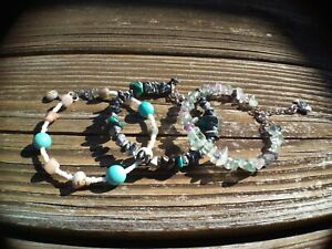 LOT of 3 Crystal Healing Energy Bracelets HANDMADE IN USA