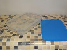 Tupperware A 182 KlimaOase 1,8l flach, klar-blau für Fisch und Fleisch NEU