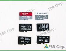Lot 10 Micro SD 32GB MicroSD HC Flash Memory Card SanDisk Kingston Samsung