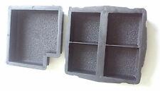 Set di 2 pavimentazione cemento ad incastro vialetto da giardino soletta Mattone Pavimento Piastrella MUFFA