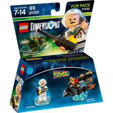 LEGO 71230 Dimensions back to the future Fun Pack Doc Brown tarveling time Train