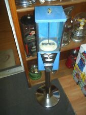 Used Oak Astro Vista Candy Gumball machine 25 cent vend with new stand incl