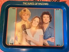 DUKES OF HAZZARD ~ Vtg Metal TV Tray Blue 1981 Warner Brothers