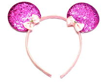 Gorgeous Children Glitter Mouse Ear Alice Band Party Head Band Very Attractive