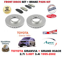 FOR TOYOTA GRANVIA +GRAND HIACE 3.0DT RWD 1995-2002 FRONT BRAKE DISCS + PADS SET