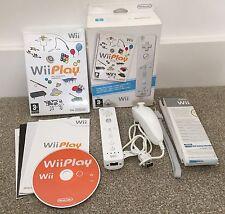 Nintendo Wii jugar Game En Caja Paquete De Nunchuck controlador oficial blanco Manual