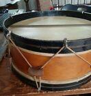 Antique wooden snare drum and drum sticks picture