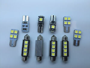 Error Free White 10 SMD LED Interior Lights SEAT LEON 5F FR 5F1 SC ST 5F5 Cupra