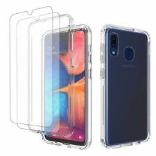 For Samsung Galaxy A10e A20 A51 A71 Clear Silicone Phone Case+Screen Protector