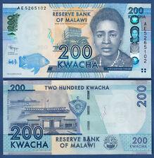 MALAWI  200 Kwacha 2012  UNC   P. 60 a