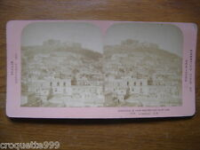1901 Ancienne photo stereo American view New York ITALIE NAPLES St MARTINO St EL