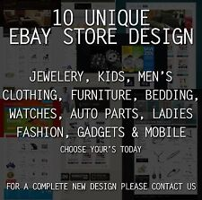 Full Professional eBay Shop design ebay store design Free same day Installation