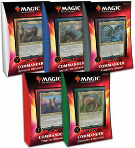 MTG Magic The Gathering Ikoria Commander 2020 Decks Sealed Set of 5 - Free Ship