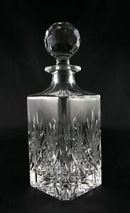 Gorgeous Lead Crystal Square Whisky Spirit Decanter - Vintage