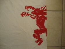 Fireball Cinnamon Whiskey Fire Breathing Alcohol Drink Party White T Shirt L