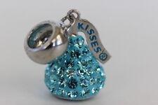 Swarovski Blue Crystal Hershey's Kiss Charm Pendant Sterling Silver NIP