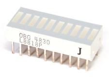 Siemens OBG-4830 LED 10-Element BAR Graph Display Super-Red/BAR Display Red