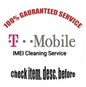 T-Mobile USA IMEI Cleaning Fix Service | Good Success Rate | Check Desc Properly