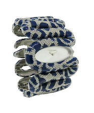 Roberto Cavalli R7253195635 Cleopatra Women's Electric Blue Snake Bangle Watch