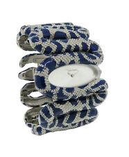 Roberto Cavalli R7253195635 Cleopatra Women's Electric Blue Snake Bangle Watch